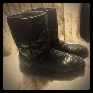 UGG Black Sequin Boots